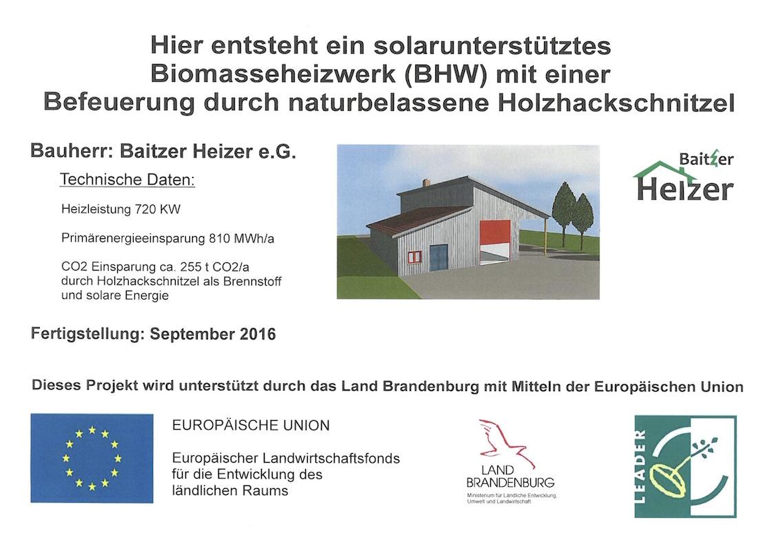 Baustellenschild-Heizhaus